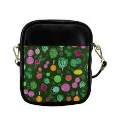 Colorful Vegetable Veggie Nature Pattern Sling Bag (Model 1627)