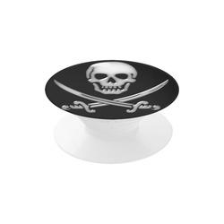 Skull and Cross Swords - Jolly Roger Pirate Air Smart Phone Holder