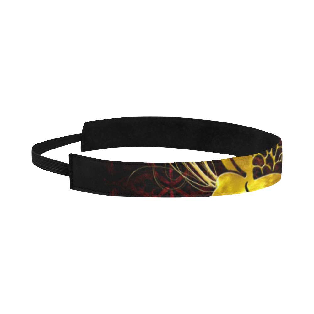 Beautiful flower with leaves Sports Headband