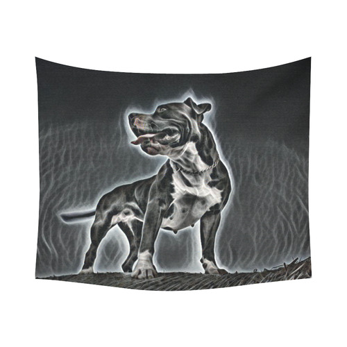 """Steff Black and White Cotton Linen Wall Tapestry 60""""x 51"""""""