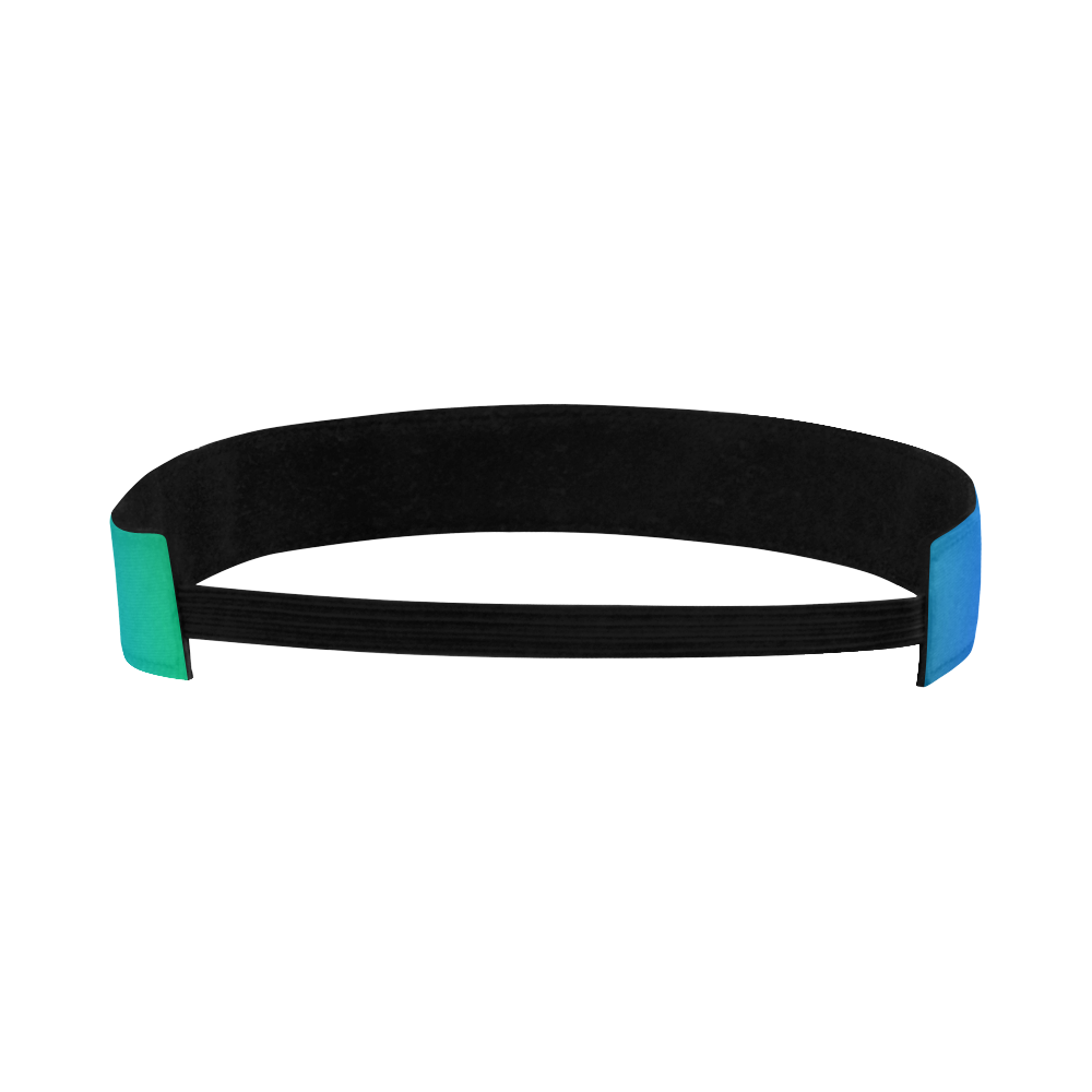 POWER SPIRAL - WAVES blue green Sports Headband