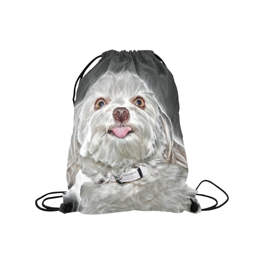 "Cheeky Lovely Buddy Medium Drawstring Bag Model 1604 (Twin Sides) 13.8""(W) * 18.1""(H)"