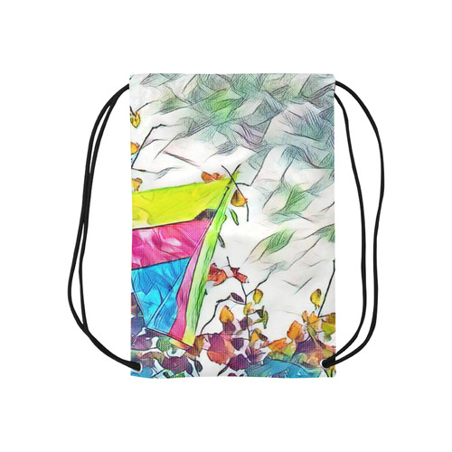 "Stromy Hang Gliding Small Drawstring Bag Model 1604 (Twin Sides) 11""(W) * 17.7""(H)"