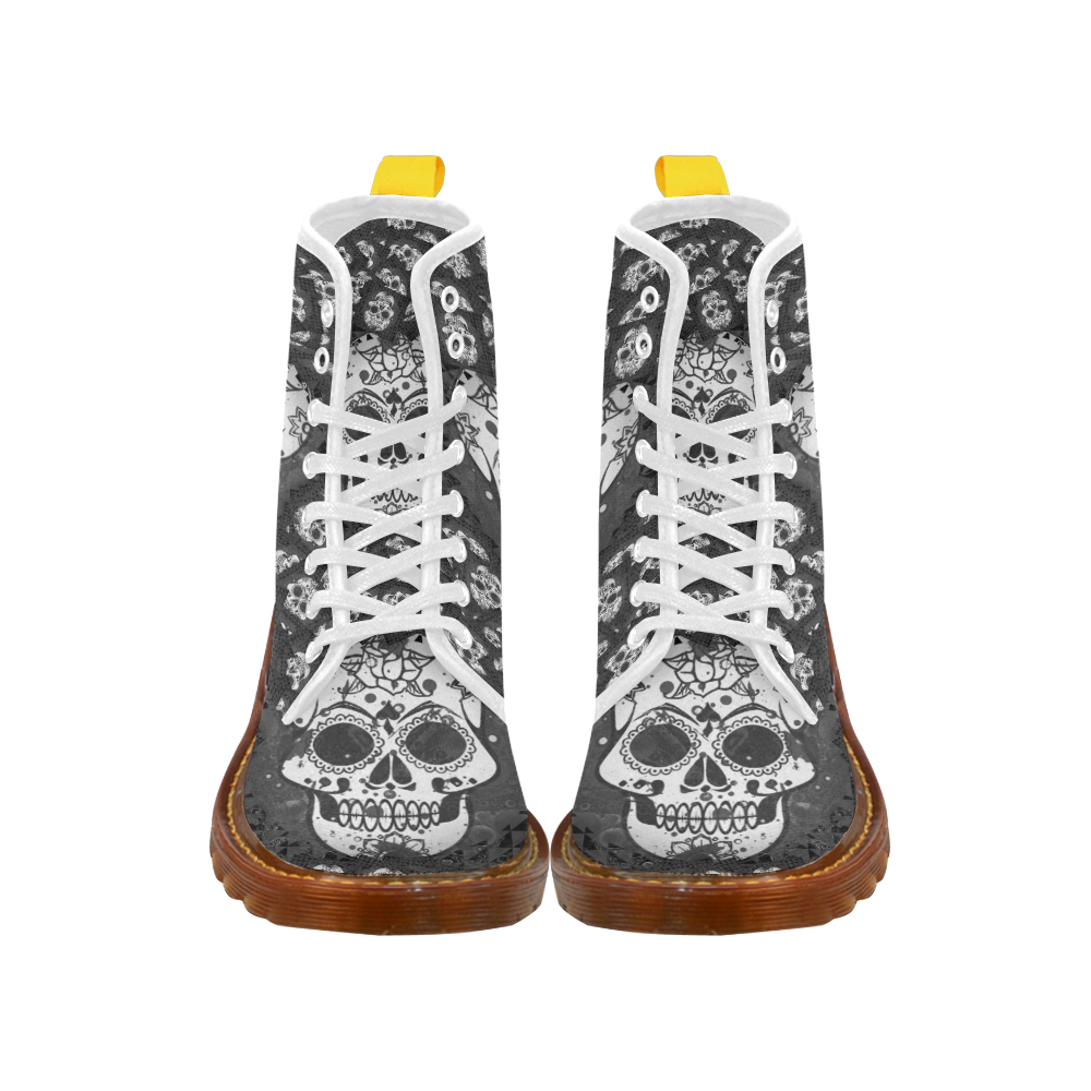 skull 317 B&W Martin Boots For Women Model 1203H