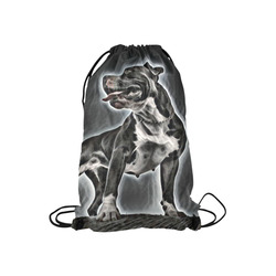 """Steff Black and White Small Drawstring Bag Model 1604 (Twin Sides) 11""""(W) * 17.7""""(H)"""