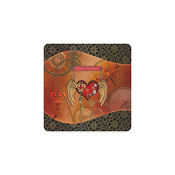 Steampunk, wonderful heart with wings Square Coaster