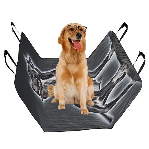 Steff Black and White Pet Car Seat 55''x58''