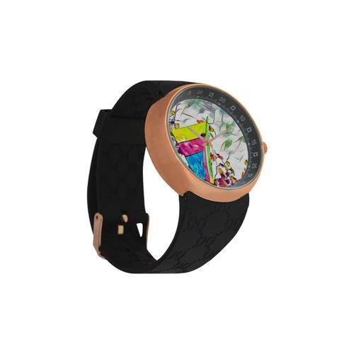 Stromy Hang Gliding Men's Rose Gold Resin Strap Watch(Model 308)