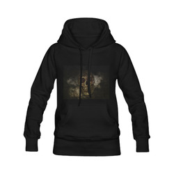 Mysterious  Golden Skull Women's Classic Hoodies (Model H07)