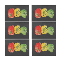 PEPPER Placemat 12'' x 18'' (Six Pieces)