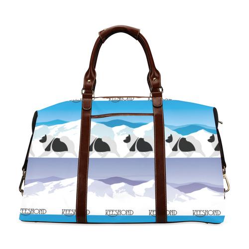 Keeshond  Rockin the Rockies 3 Classic Travel Bag (Model 1643) Remake