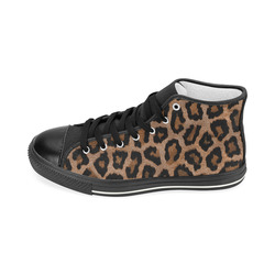 LeopardPattern20170112_by_JAMColors Women's Classic High Top Canvas Shoes (Model 017)