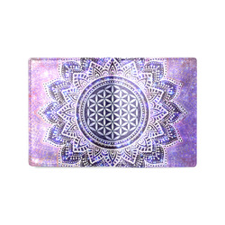 Flower Of Life Lotus Of India Galaxy Colored Men's Leather Wallet (Model 1612)