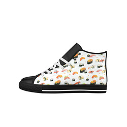 Sushi Lover Aquila High Top Microfiber Leather Women's Shoes (Model 027)