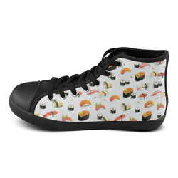 Sushi Lover High Top Canvas Women's Shoes/Large Size (Model 002)