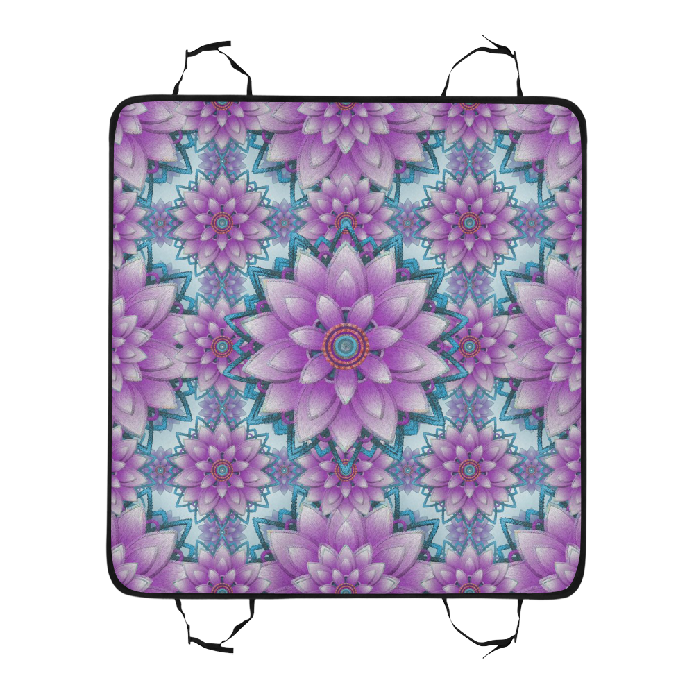 Lotus Flower Pattern - Purple and turquoise New Pet Car Seat 55''x58''
