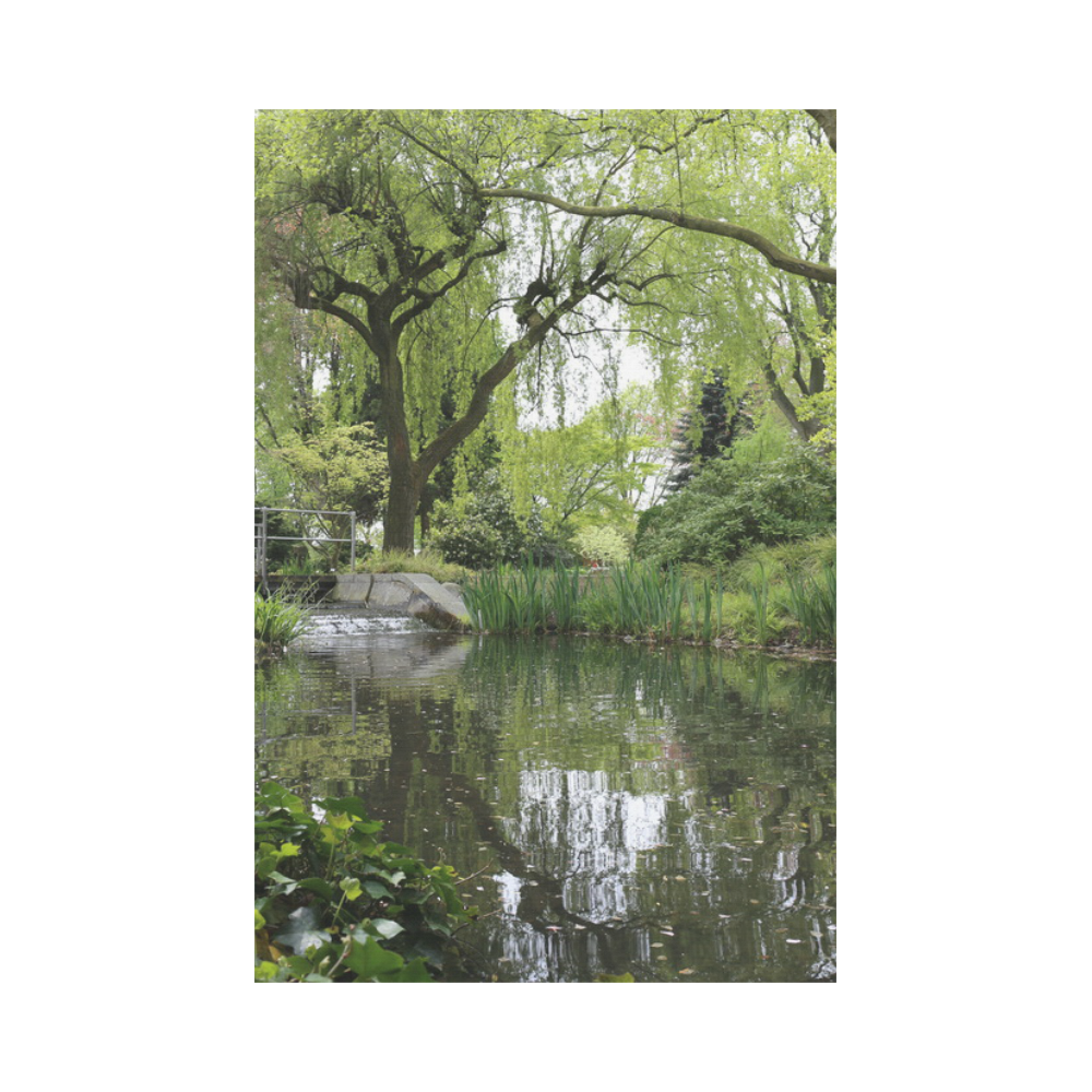 Japanese Garden in Leverkusen Garden Flag 12''x18''(Without Flagpole)