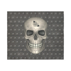 """317 new Skull A by JamColors Cotton Linen Wall Tapestry 60""""x 51"""""""