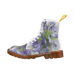 Delicate Purple Flower, floral watercolor Martin Boots For Men Model 1203H