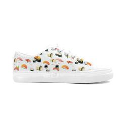 Sushi Lover Women's Canvas Zipper Shoes (Model 001)