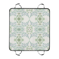 Blue and Green watercolor pattern New Pet Car Seat 55''x58''