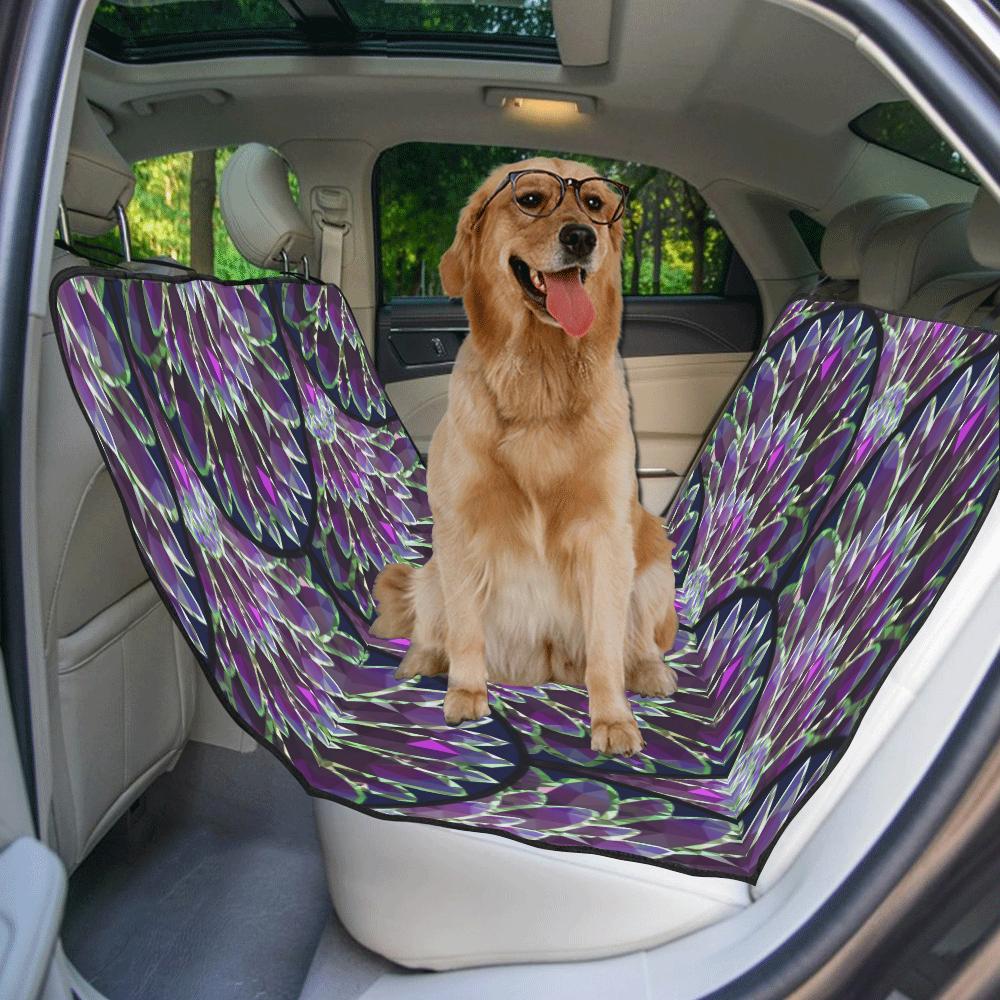 Mosaic flower, purple fish scale pattern New Pet Car Seat 55''x58''