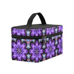 Purple Geometric Lunch Bag/Large (Model 1658)