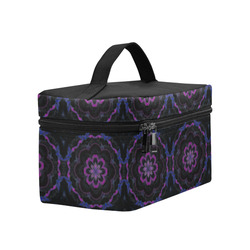 Black Violet Geometric Lunch Bag/Large (Model 1658)