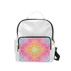 Rainbow Flowers Mandala I Campus backpack/Large (Model 1650)