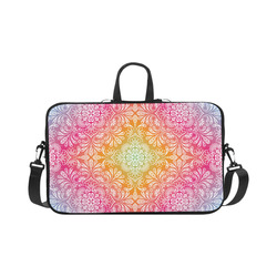 "Rainbow Flowers Mandala I Macbook Pro 17"""