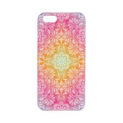 Rainbow Flowers Mandala I Hard Case for iPhone SE