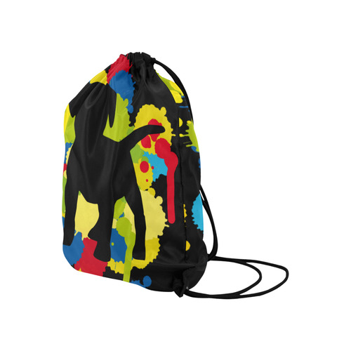 "Lovely little Buddy Large Drawstring Bag Model 1604 (Twin Sides)  16.5""(W) * 19.3""(H)"