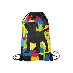 "Lovely little Buddy Small Drawstring Bag Model 1604 (Twin Sides) 11""(W) * 17.7""(H)"