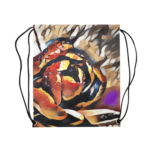 "FineArt Colorful Tulip Large Drawstring Bag Model 1604 (Twin Sides)  16.5""(W) * 19.3""(H)"