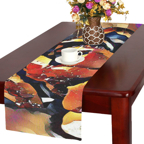FineArt Colorful Tulip Table Runner 16x72 inch