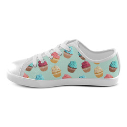 Cup Cakes Party Canvas Kid's Shoes (Model 016)