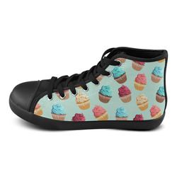 Cup Cakes Party High Top Canvas Women's Shoes/Large Size (Model 002)