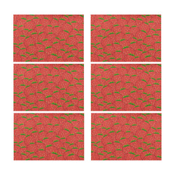 Strawberry Patch Placemat 12'' x 18'' (Six Pieces)