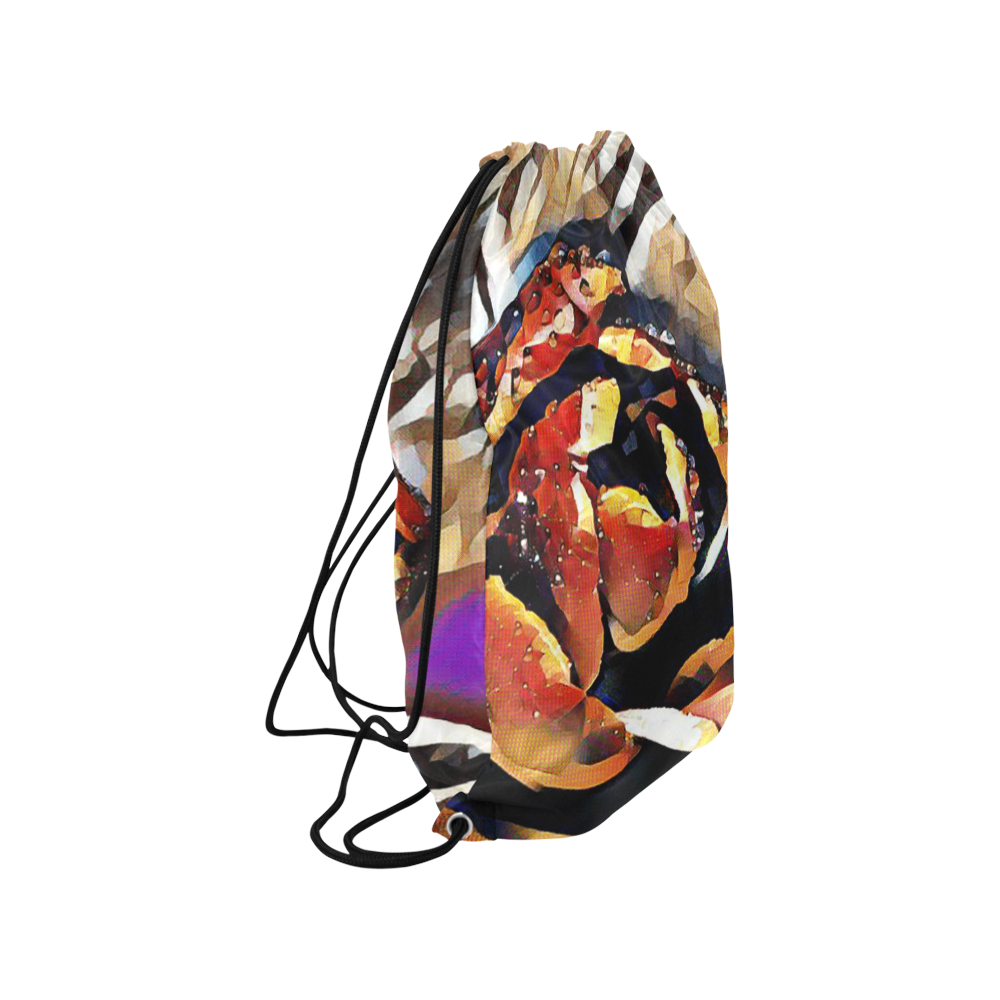 "FineArt Colorful Tulip Medium Drawstring Bag Model 1604 (Twin Sides) 13.8""(W) * 18.1""(H)"