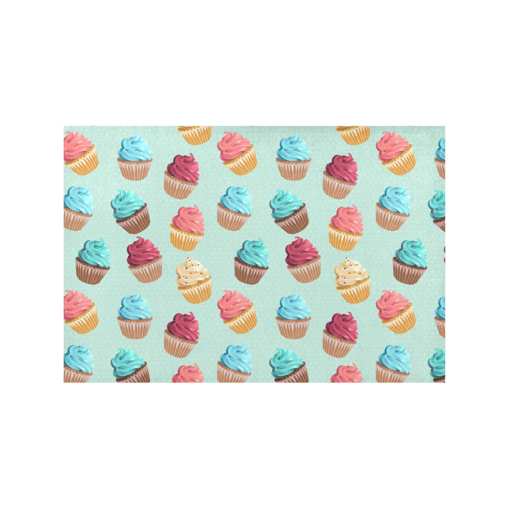 Cup Cakes Party Placemat 12'' x 18'' (Six Pieces)