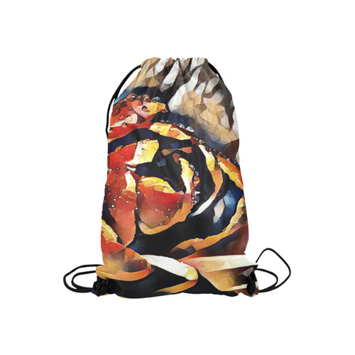 """FineArt Colorful Tulip Small Drawstring Bag Model 1604 (Twin Sides) 11""""(W) * 17.7""""(H)"""