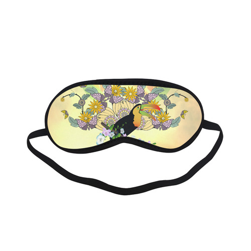 Toucan with flowers Sleeping Mask