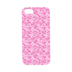 Shocking Pink Camouflage Pattern Hard Case for iPhone SE
