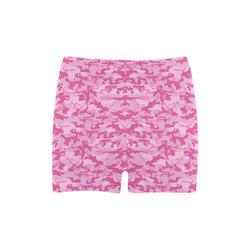 Shocking Pink Camouflage Pattern Briseis Skinny Shorts (Model L04)