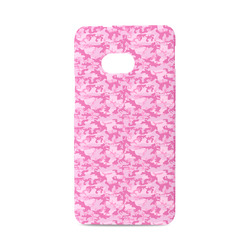 Shocking Pink Camouflage Pattern Hard Case for HTC ONE M7 3D