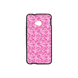 Shocking Pink Camouflage Pattern Hard Case for HTC ONE M7(Laser Technology)