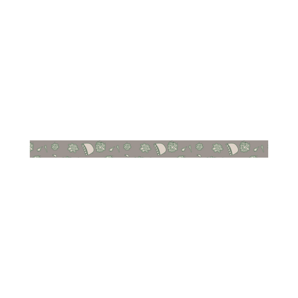 floral gray and green Sports Headband