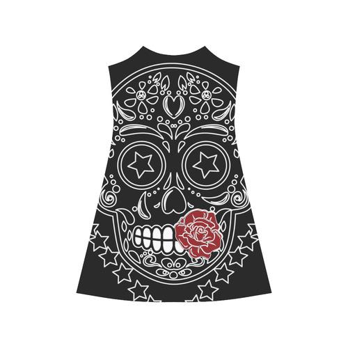 Sugar Skull Red Rose Alcestis Slip Dress (Model D05)