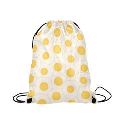 "Fried Eggs Large Drawstring Bag Model 1604 (Twin Sides)  16.5""(W) * 19.3""(H)"