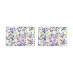 softly floral B by JamColors Placemat 12'' x 18'' (Two Pieces)